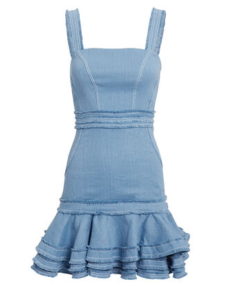 Judith Mini Dress, BLUE, hi-res