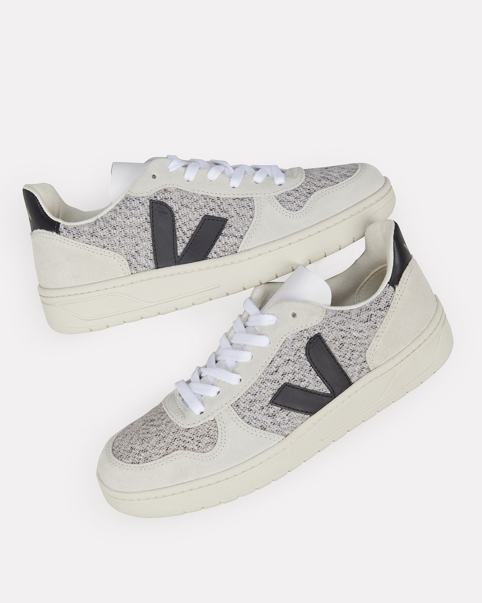V-10 Low Top Sneakers, BLK/WHT, hi-res