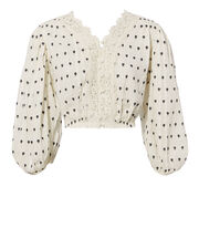 Florence Lace Crop Top, IVORY, hi-res