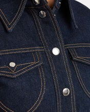 Shevall Cropped Denim Jacket, DARK WASH DENIM, hi-res