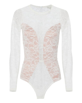 Chat Noir White Lace Bodysuit, WHITE, hi-res