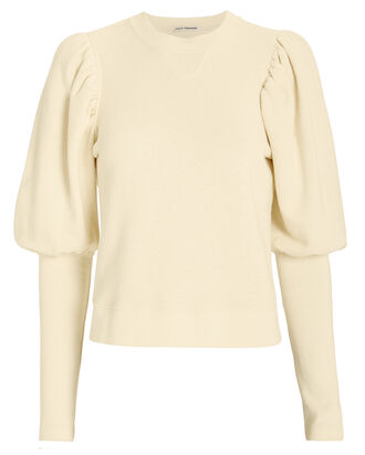 Military Fleece Philo Pull-Over Sweater, ECRU, hi-res