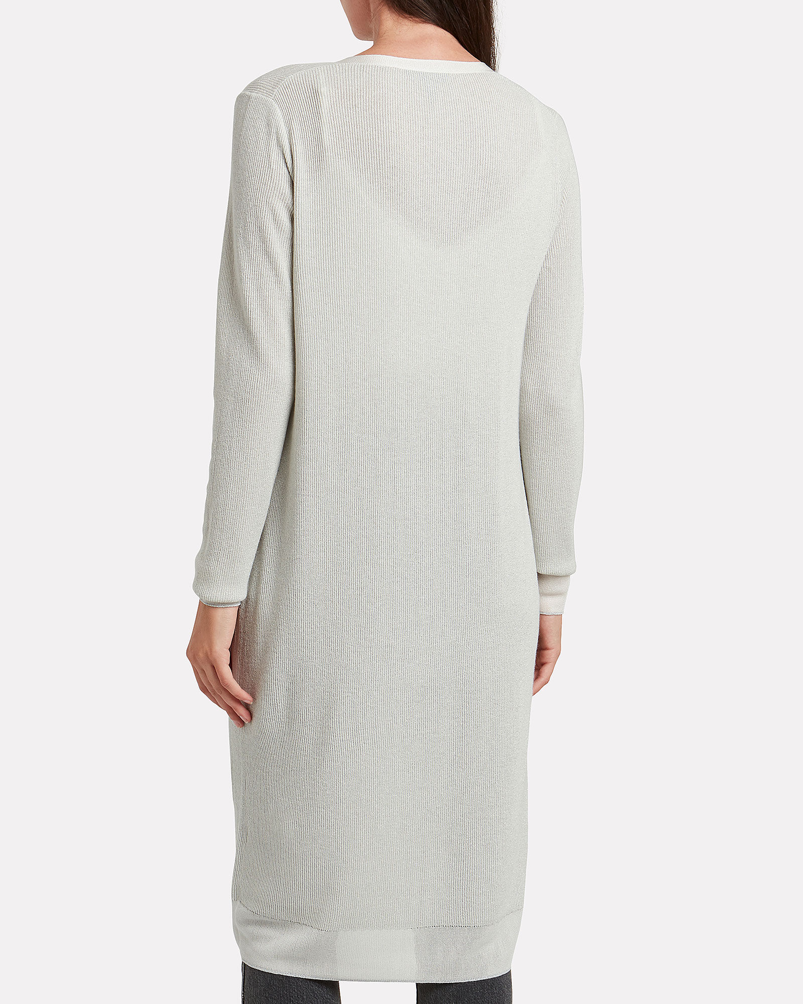 Rower Longline Cardigan, IVORY, hi-res