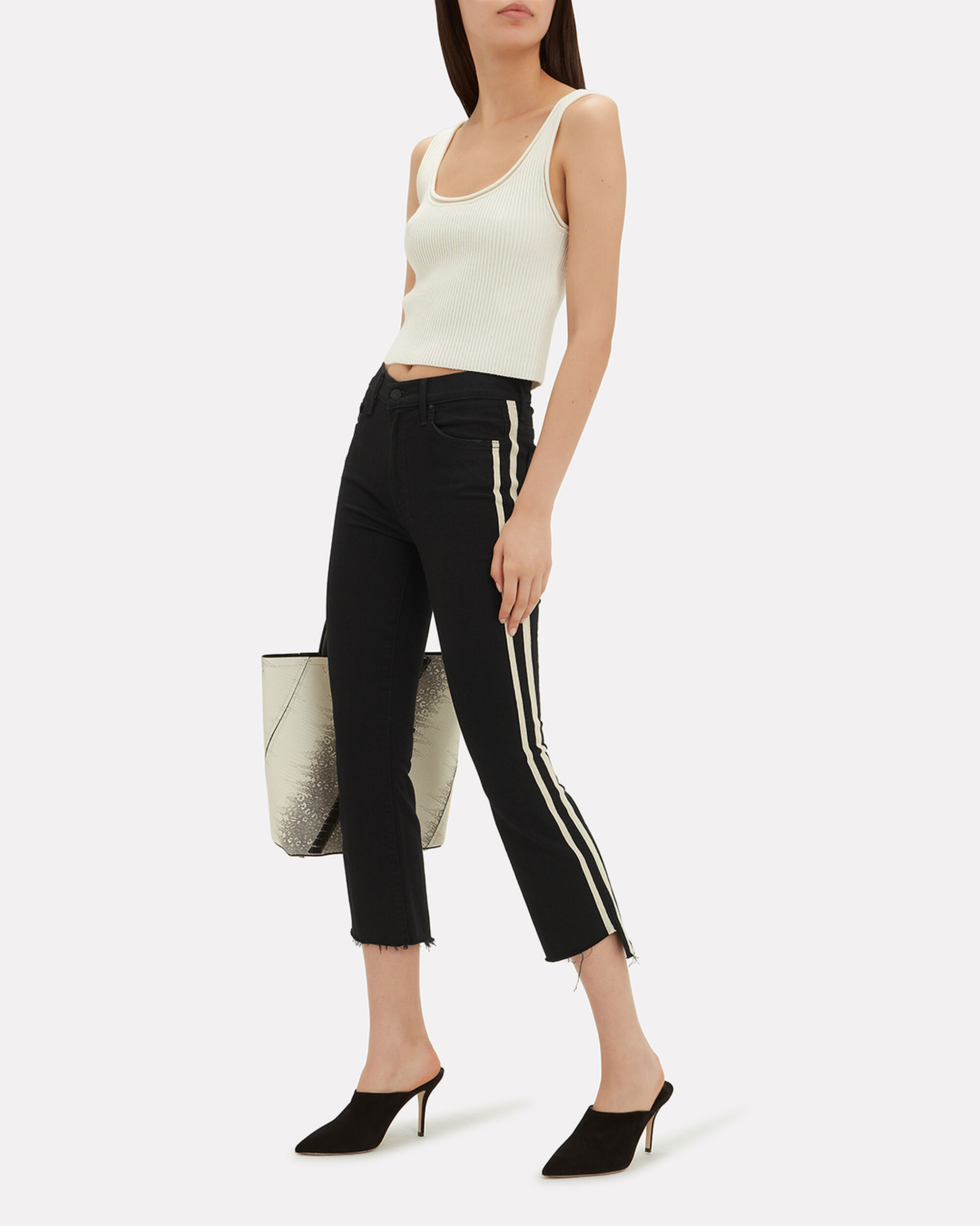 Insider Not Guilty Crop Step Fray Jeans, BLACK, hi-res