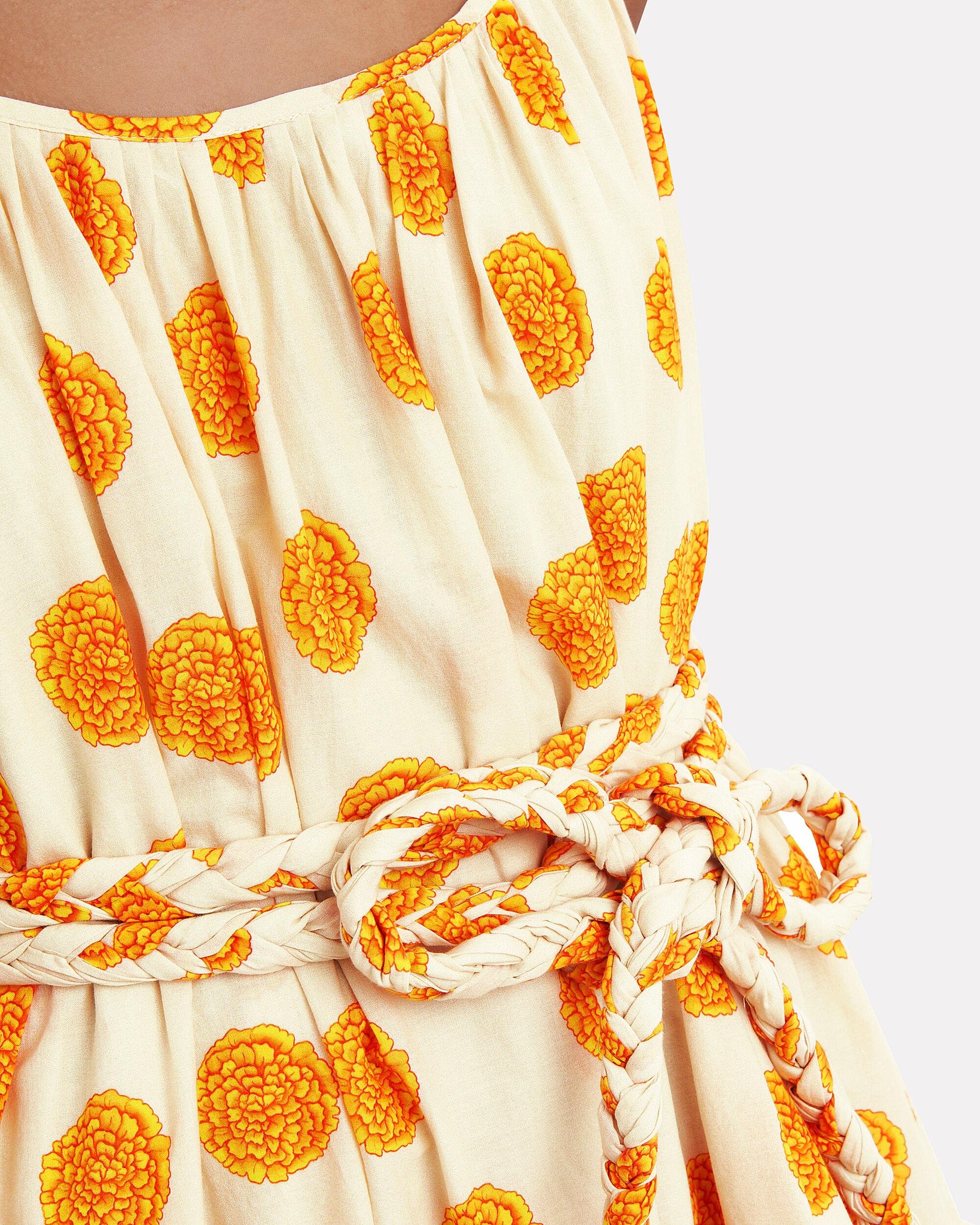 Nala Cotton Mini Dress, IVORY/MARIGOLD, hi-res