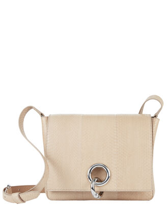 Charlie Snakeskin Nude Shoulder Bag, BLUSH/NUDE, hi-res
