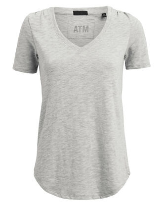 Slub Jersey T-Shirt, GREY, hi-res
