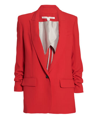 Draped Graham Dickey Blazer, RED, hi-res