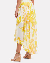 Adelle Ruffled High-Low Skirt, YELLOW, hi-res