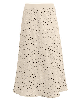 Silk Polka Dot Skirt, CREAM/POLKA DOT, hi-res