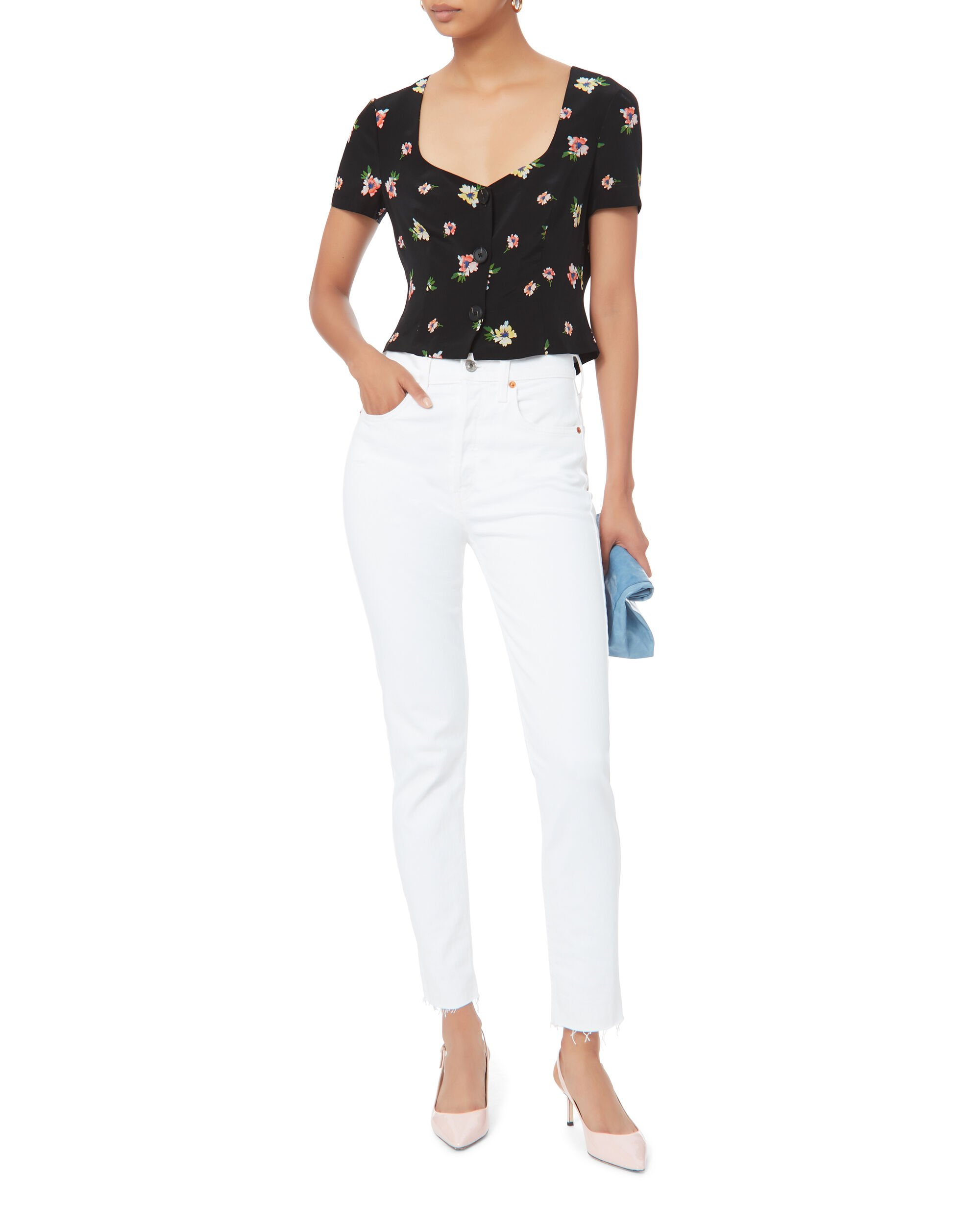 Carolyn Floral Top, MULTI, hi-res