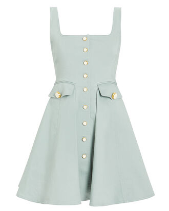 Nena Sleeveless Button Front Dress, SEA FOAM, hi-res