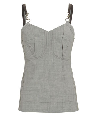 Chambray Bustier Tank Top, , hi-res