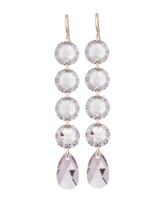 Crystal Drop Earrings, PALE PURPLE, hi-res