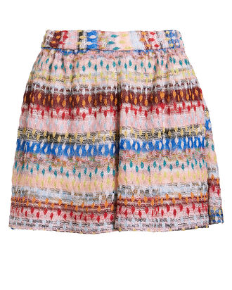 Jacquard Knit Shorts, RAINBOW/BLUSH, hi-res