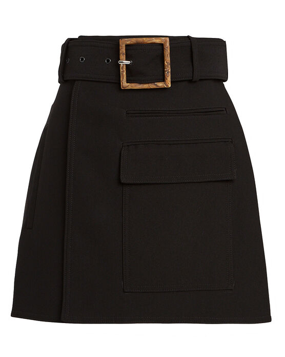 Acler Skirts Alameda Belted Wrap Mini Skirt