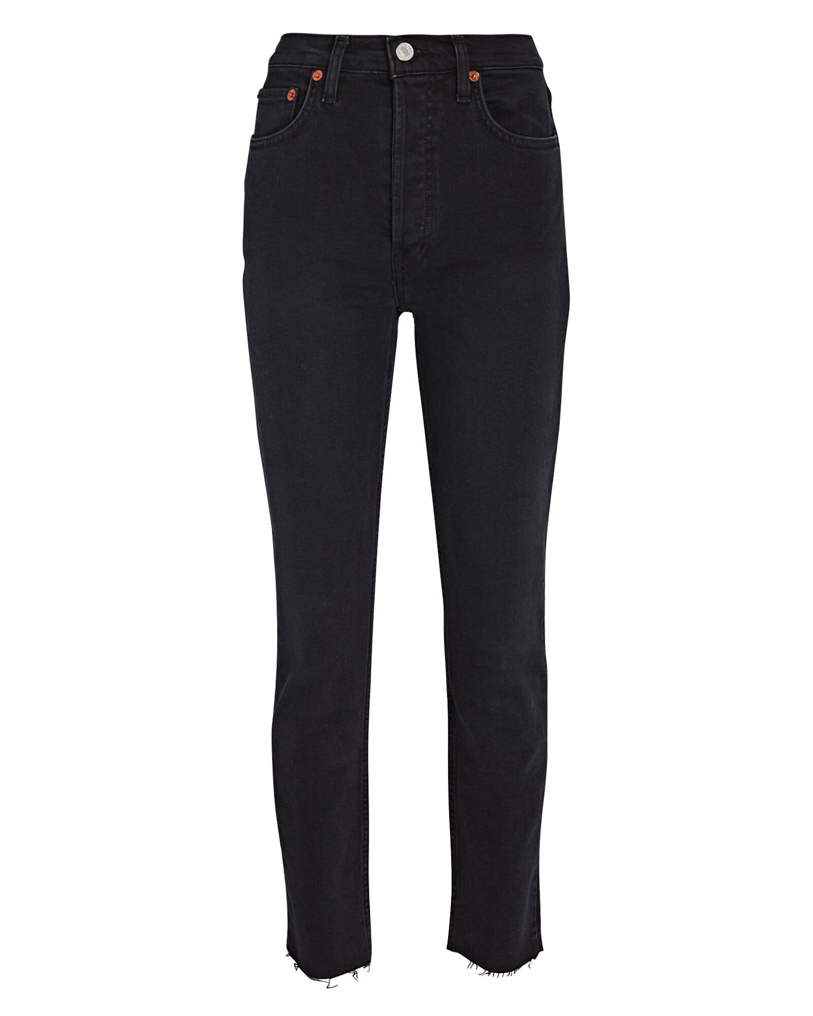 High-Rise Ankle Crop Jeans, FADED BLACK, hi-res