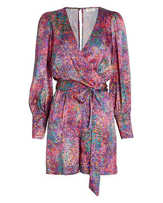 Passion Silk Confetti Print Playsuit, MULTI, hi-res