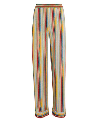 Lurex Rainbow Stripe Pants, RAINBOW/METALLIC, hi-res