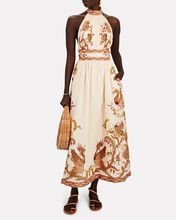 Cassia Halter Floral Linen Dress, MULTI, hi-res