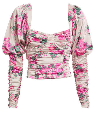 Palais Floral Crop Top, BLUSH/FLORAL, hi-res
