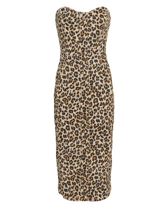 Liza Leopard Denim Dress, LEOPARD, hi-res