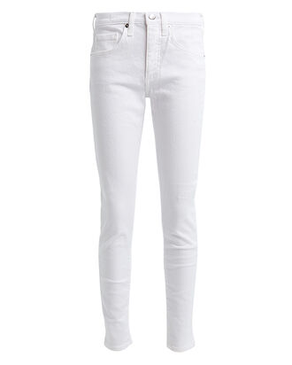 Brooke Mid-Rise Skinny Jeans, WHITE WASH DENIM, hi-res