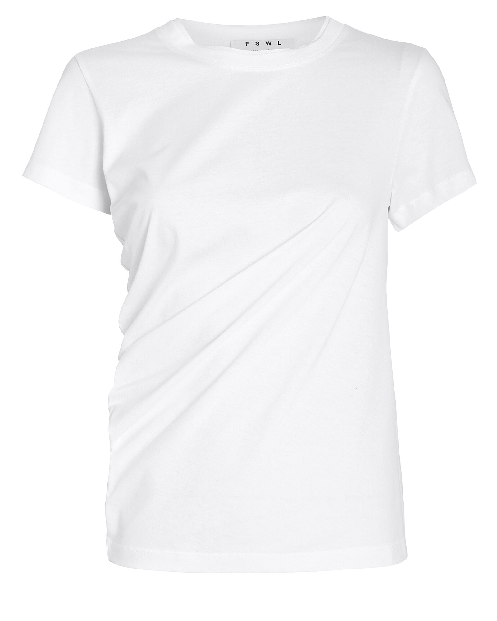Twisted Jersey T-Shirt, WHITE, hi-res