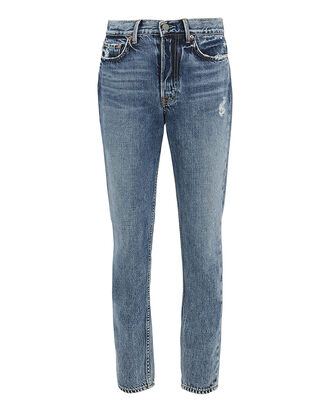 Karolina Distressed Cropped Jeans, DENIM, hi-res