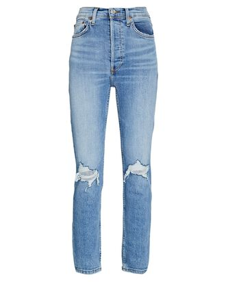 90s High-Rise Ankle Crop Jeans, 60S FADE WITH DESTROY, hi-res