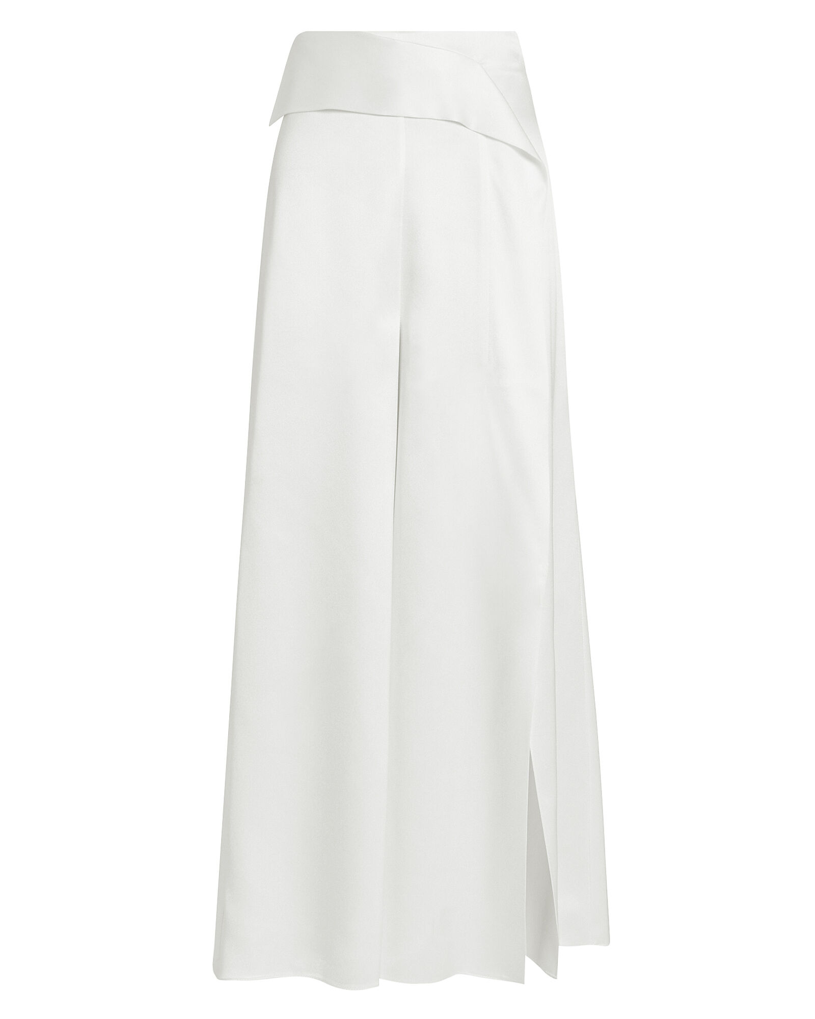 Front Slit Wide Leg Pants, WHITE, hi-res