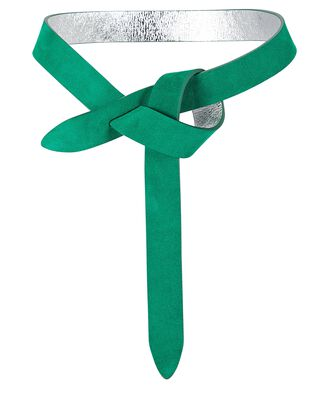 Lecce Knotted Leather Belt, GREEN, hi-res