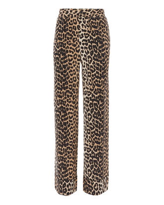 Fayette Animal Print Wide Leg Pants, PRINT, hi-res