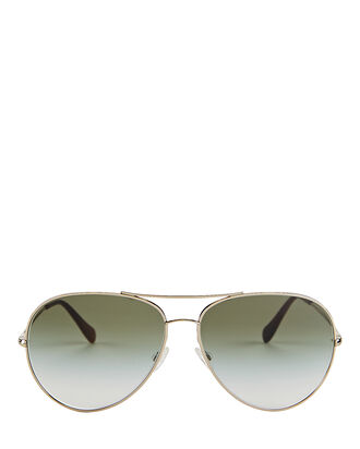 Sayer Oversized Aviator Sunglasses, GREEN, hi-res