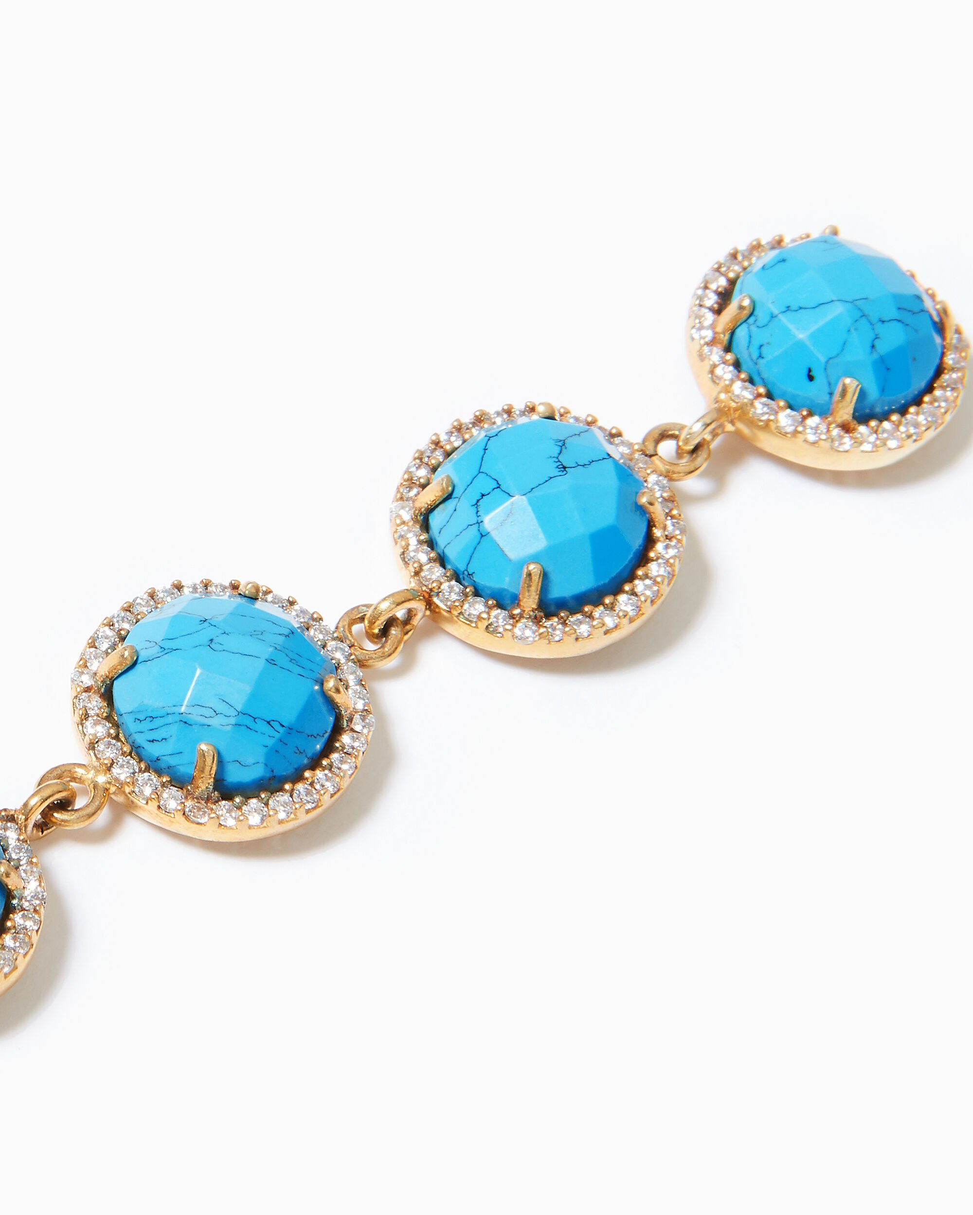5 Stud Turquoise Drop Earrings, TURQUOISE, hi-res