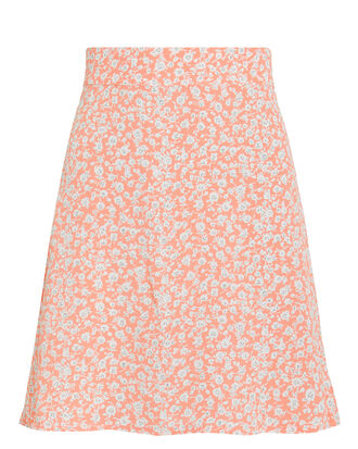 It Floral Mini Skirt, PEACH/FLORAL, hi-res