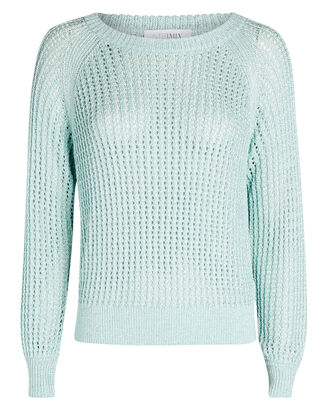 Maria Open Knit Sweater, LIGHT BLUE, hi-res