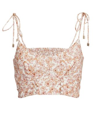 Maria Sleeveless Floral Crop Top, MULTI, hi-res