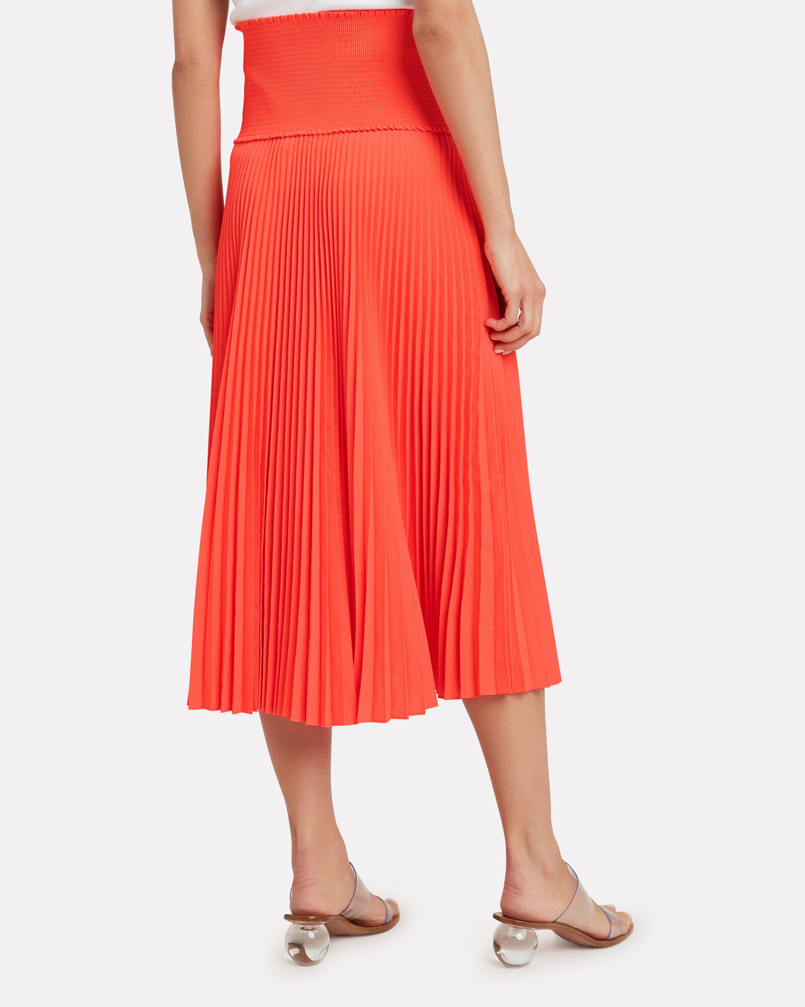 Hendrin Pleated Skirt, ORANGE, hi-res