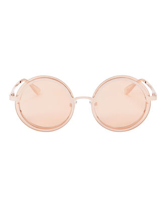 Ovation Rose Gold Circle Sunglasses, ROSE, hi-res