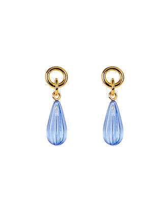 Link Teardrop Earrings, BLUE-LT, hi-res