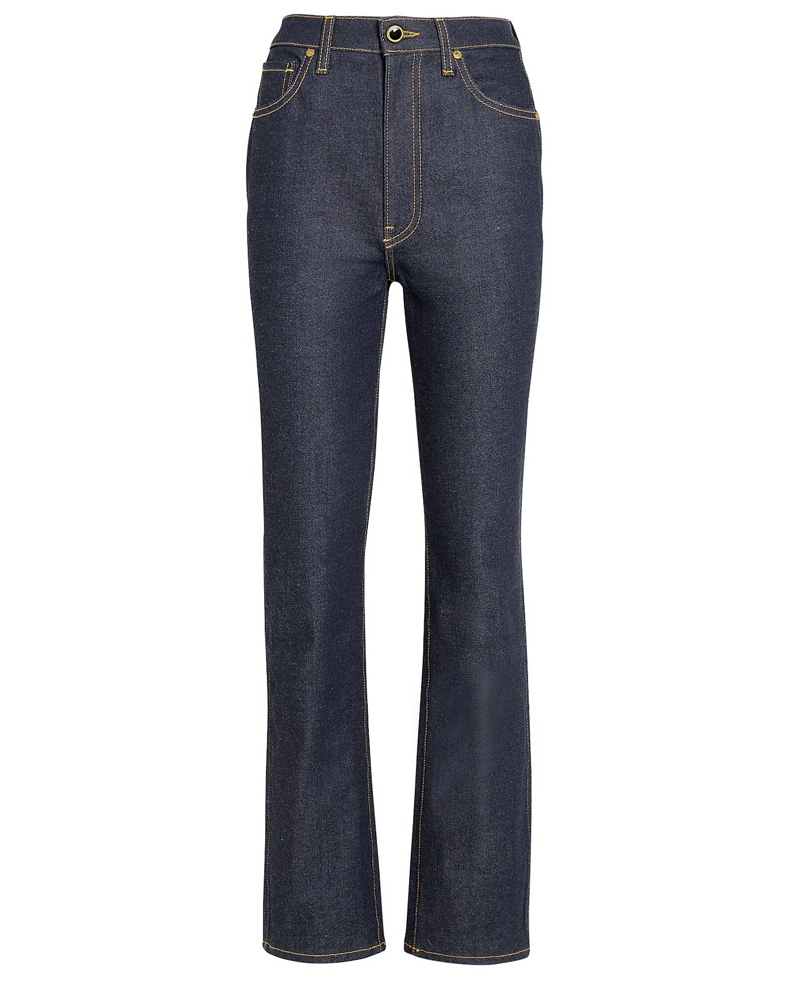 Victoria High-Rise Straight Jeans, MEDIUM INDIGO DENIM, hi-res