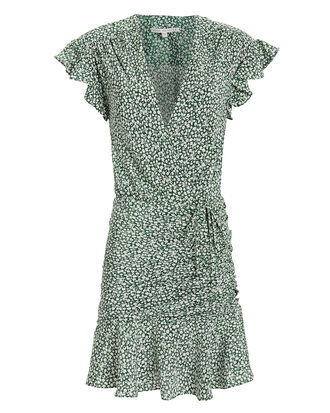 Marla Green Floral Dress, GREEN FLORAL, hi-res