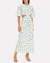 Fleur Voile Cut-Out Dress, WHITE/FLORAL, hi-res