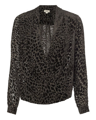 Lydia Velvet Blouse, BROWN, hi-res