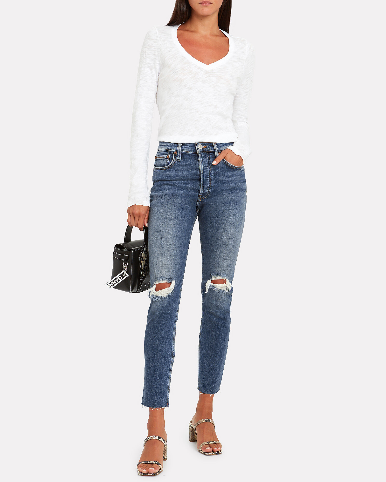 High-Rise Ankle Crop Jeans, DUSK DESTROY, hi-res