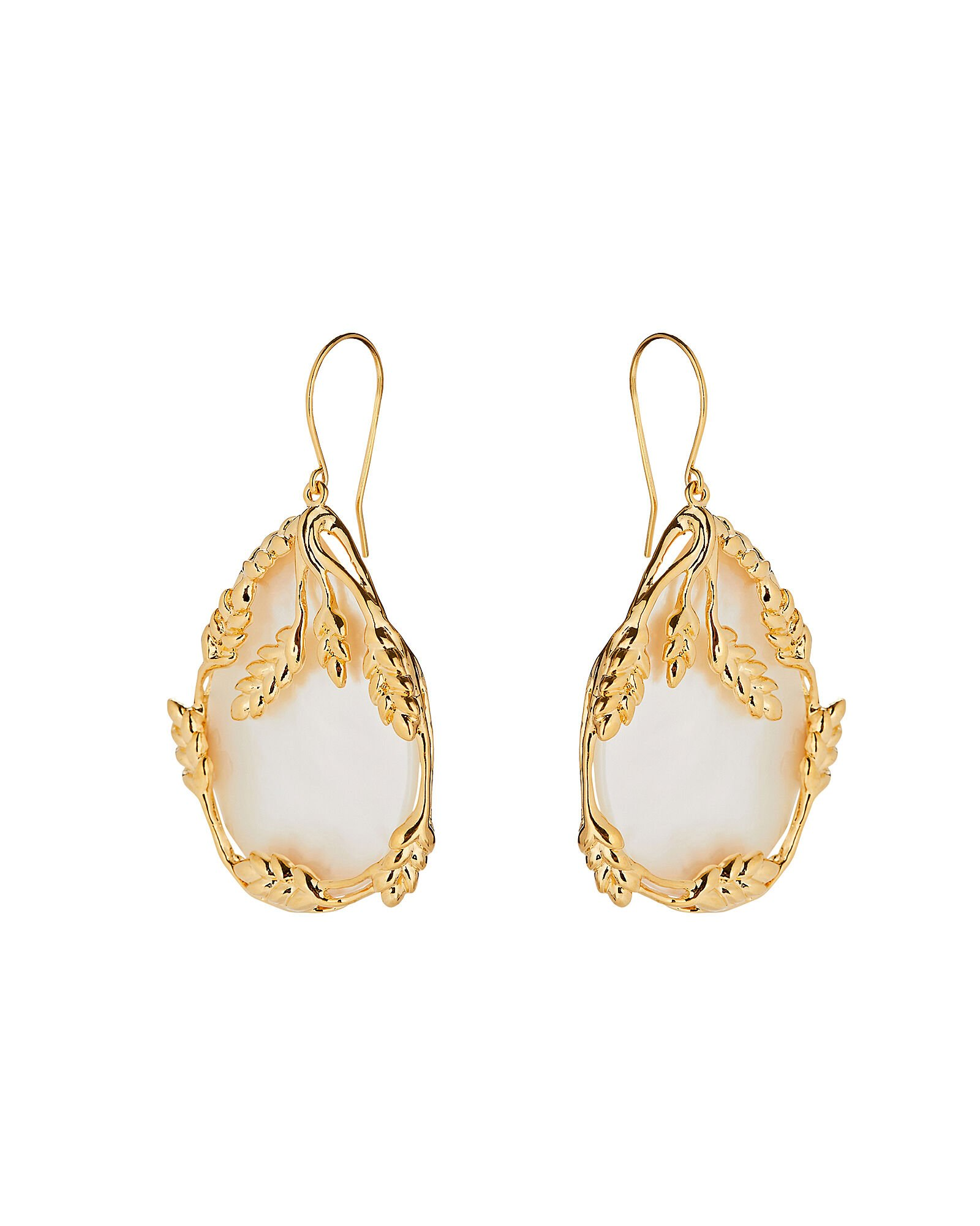 Francoise Mother-Of-Pearl Drop Earrings, IVORY, hi-res