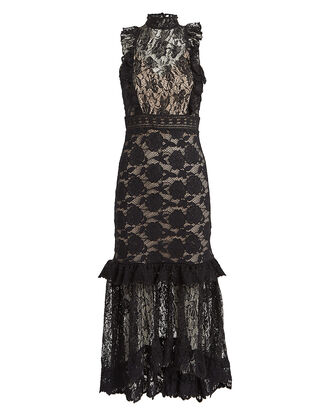 Victorian Lace Dress, BLACK, hi-res