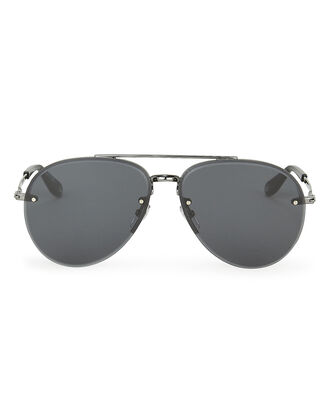 7075 Matte Aviator Sunglasses, MATTE BLACK, hi-res