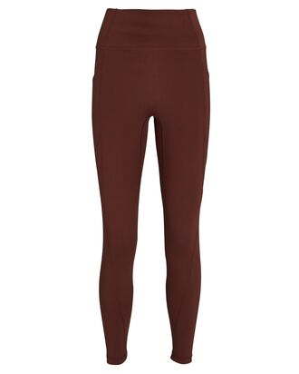 Lucca High-Rise Leggings, BROWN, hi-res